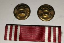 US Army Good Conduct Medal 3 Ribbon Bars Pin Lapel Pinback
