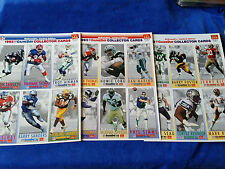 1993 McDonalds GameDay Cards Set Of  3 - 6 Card Pages - All Pro - NFL