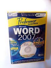 Professor Teaches Microsoft Word 2007 PC-Cd-Rom Software ,Computers,Windows7(bd)