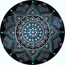 disc-mandala 18 / vinyl record mandala art handmade painting