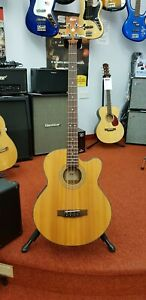 Cort SJB5F NS electro acoustic bass guitar with hardcase