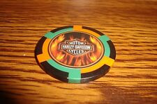 Harley Davidson Motorcycles Poker Chip, Card Guard FLAME'S Harvey Davidson gbo