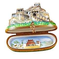 Rochard Limoges China Great Wall Trinket Box