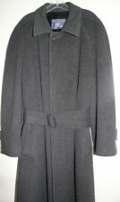 Vintage Burberrys Burberry Charcoal Gray Cashmere Belted Dress Coat Mens Large