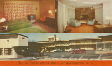 Silver Spring MD * In Town Motor Hotel ca. 1960  * Washington DC  Montgomery Co.