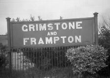 PHOTO  GRIMSTONE & FRAMPTON RAILWAY STATION NAMEBOARD  WILTS SOMERSET AND WEYMOU
