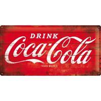 Blechschild groß Coca Cola Logo Rot,Nostalgie Schild 50 cm ! ! !,NEU