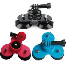 3 Feet Car Glass Triple Suction Cup Mount With Screw For GoPro Hero 1 2 3 3+ 4