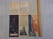 Rare 1932? NYC New York City Empire State Building Observatory Brochure Art Deco