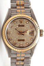 Estate $25,000 TRIDOR 18k Gold Ladies PRESIDENT FACTORY Diamond Watch & BOX WTY