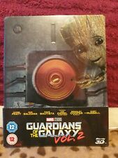 Marvel Steelbook blu ray +3D Guardians of the Galaxy vol.2 ovp neu