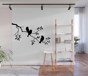 Birds On A Tree Branch Wall Art Decal Sticker Home Decor A75