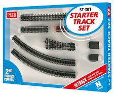 More details for peco st-301 n gauge setrack starter set second radius