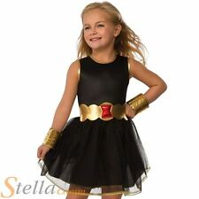 Girls Black Widow Tutu Costume Superhero Avengers Halloween Fancy Dress Outfit