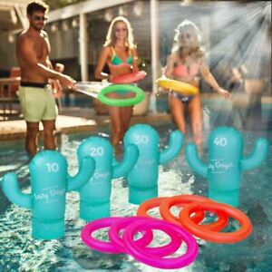 NEW Inflatable Cactus Ring Toss Game Hoops Pool Beach Party Game Kids Adult OZ