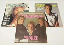 The Police / Sting ~ Lot of 3 vintage Rolling Stone Magazines ~ #416 #457 #597