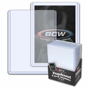 25 BCW Hard Plastic Trading Card Topload Holders 12 mil rigid protector
