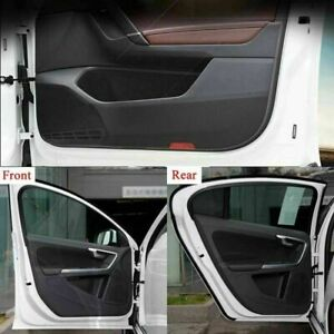 4pcs Carbon Fiber Side Edge Protection Pad Anti-kick Door Cover For Volvo S60