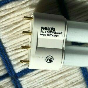 NEW 55 watt 2G11 POWER COMPACT 4 PIN PL-L fluorescent light bulb 55w Philips 950