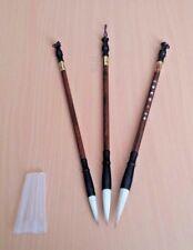 3 PACK - Chinese Calligraphy Writing Brush - (Logographic / Syllabic Writing)
