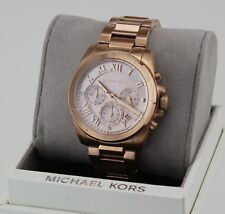 0ea614972461 NEW AUTHENTIC MICHAEL KORS BRECKEN ROSE GOLD CHRONOGRAPH WOMEN S MK6367  WATCH