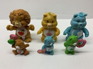 1980s Care Bear Figures Bundle (6 in total), Vintage, Rare, 80s Toys