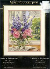 Stickpackung von Dimensions Gold Collection   # Peonies & Delphiniums