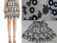 NWT T TAHARI Size 6 NiICOLE Metallic  Embroidered Pleated Skirt in Blueberry CO