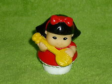 Fisher Price Little People July Fourth 4th Sonya Girl with Banjo Guitar