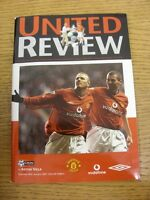 20/01/2001 Manchester United v Aston Villa  . Thanks for viewing our item, if th