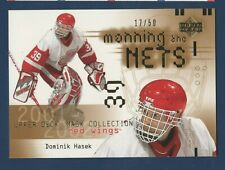DOMINIK HASEK 2001-02 UPPER DECK MASK COLLECTION THE NETS  XX50 NO 111  41800