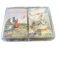 Vtg Playing Cards WHITMAN with Case USA James Sessions Art (Box C)