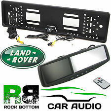 "LAND ROVER 4.3"" Rear View Reversing Mirror Monitor & Car Number Plate Camera Kit"