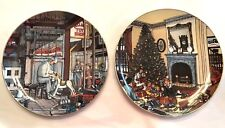 H. Hargrove TheToy Maker & Christmas Together Plates 1 & 2 Fox Art Galleries