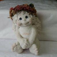 Kristin Littlest Angel Figurine 1994 Signed Adorable Dreamcicle