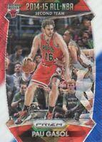2015-16 Panini Prizm Basketball RedWhiteBlue Prll #384 Pau Gasol