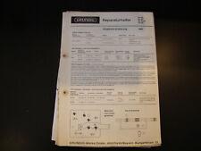 Original Service Manual  Grundig  RF 100 102 102Ph 105