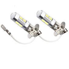 2 x H3 LED White High Power LED Bulbs For Fog Lights Lamp 5630 SMD LED Amber