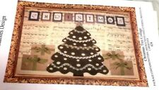 CHRISTMAS TREE COLLAGE Quilt Pattern With LETTERING PRINTED ON CARDSTOCK Lace