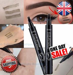 Black 3D Eyebrow Liquid Ink Pen Microblading Tattoo Pencil Brow Waterproof Fork❤