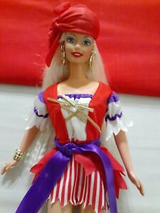 BARBIE Pirate Halloween Party Long Blonde Hair with Costume