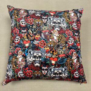 Velvet - Large Cushion Cover with Vintage Tattoos - TATTOOS00224-CUSH