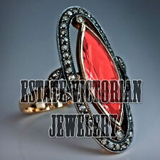 Ruby Studded Silver Wedding Ring Jewelery Vintage Style 1.57Cts Rose Cut Diamond