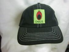 trucker hat baseball cap CHAOS unique style curved brim cool rare rave black
