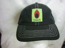 trucker hat baseball cap CHAOS unique style curved brim cool rare rave black