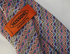 CRAVATTA UOMO (TIE) MISSONI cravatte made in Italy New!  rare