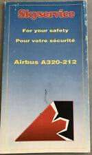 Airbus A320 Airline Safety Card - Canadian Skyservice Airlines