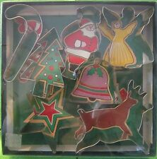 Fox Run Craftsman 7 Christmas Cookie Cutters 3648 USA Santa Candy Cane, etc