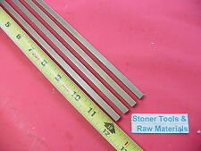 """4 Pieces 1/4"""" x 1/4"""" C360 BRASS SQUARE BAR 12"""" long Solid .250"""" Mill Stock H02"""