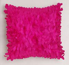 LOGAN and MASON Fuchsia / Pink IZZY Leaf Faux Silk Filled CushionULTIMA NEW